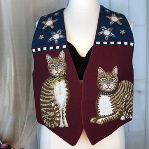 Red Cat Tapestry Vest